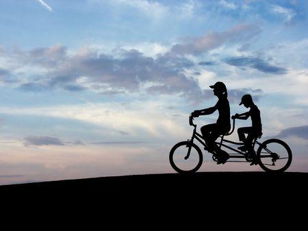 Bicycle (Blue Sky) photo
