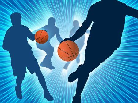Basketball Art 3 Stock Photo