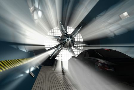 トンネル: 車テスト用風洞