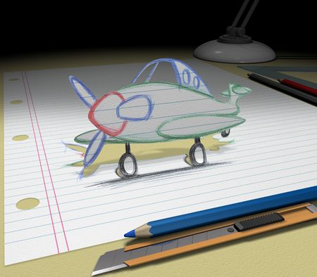 In your dream you will buy an airplane or makes a trip to the other country. Sketch your ideas and plans.