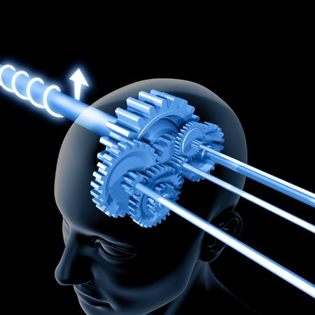 The Brain is Thinking (Gears) Stock Photo - 1358560