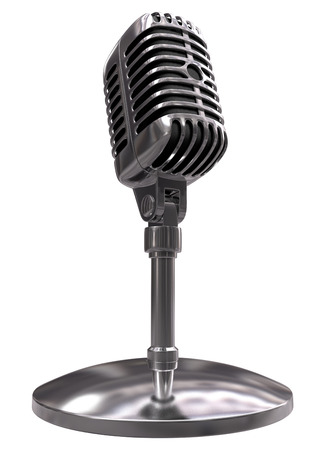 Classic microphone in perspective view (overwhite) Stock Photo - 1366357