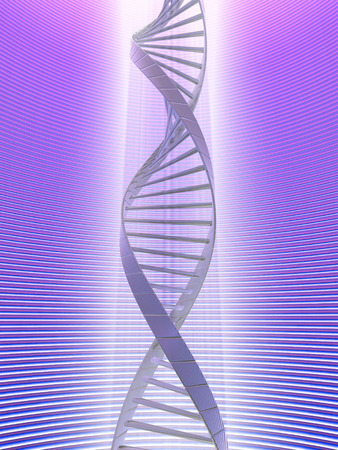 Concept of dna analysis using the light of a powerful optical microscope. Stock Photo - 1412382