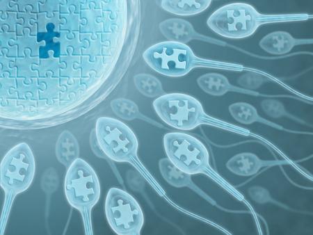 reproductive technology: Semen (El derecho pieza)  Foto de archivo