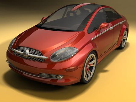 sportive: Concept design of a sportive sedan car