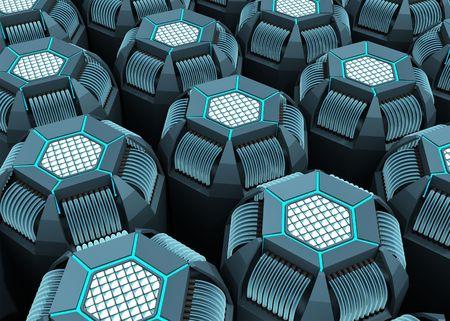 fibre optique: CPU Hexagon l'avenir de tension par fibre optique. Notion de bonne technologie � utiliser comme arri�re-plan.