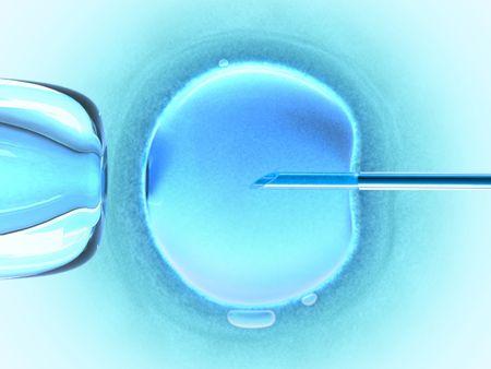 esperma: Fecundaci�n in vitro usando el esperma (color fr�o)  Foto de archivo