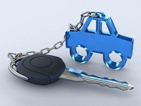 The key of a gift car photo