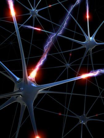 Las neuronas (La lluvia de ideas)  Foto de archivo - 2034011