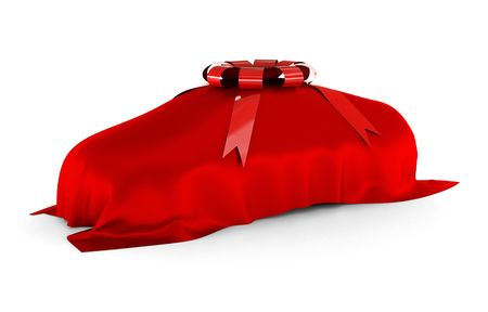 The surprise of your dream car. The dream car is covered and waiting to be reveal.