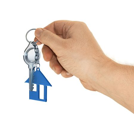The key may represent a birthday present, gift of Christmas, gift of marriage, or even a recent purchase of a house. The key symbolizes the house that is waiting for you. Stock Photo