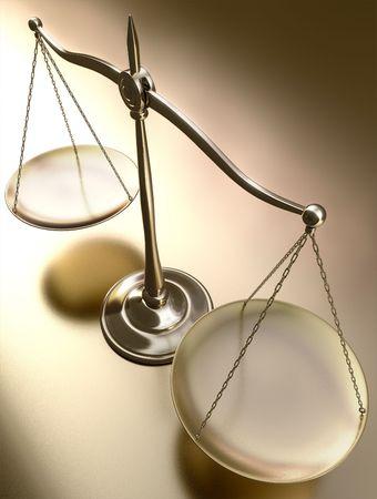 balanza en equilibrio: Golden equilibrio en vista en perspectiva