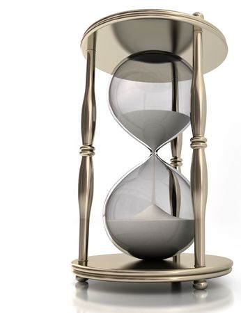Hourglass. Concept of time in business. Stock Photo