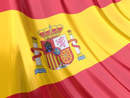 multinational: Glossy Flag of Spain