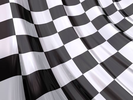 Glossy Flag of End of Race Stock Photo