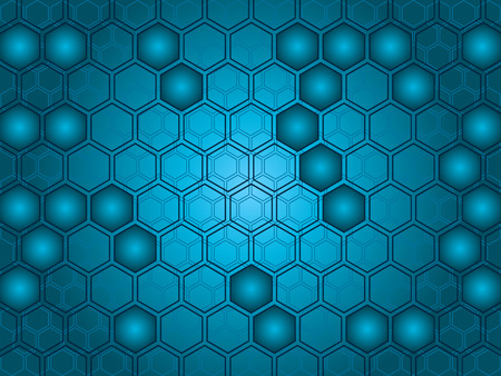 Abstract background of hexagon shapes. Easy to edit the color and layout.