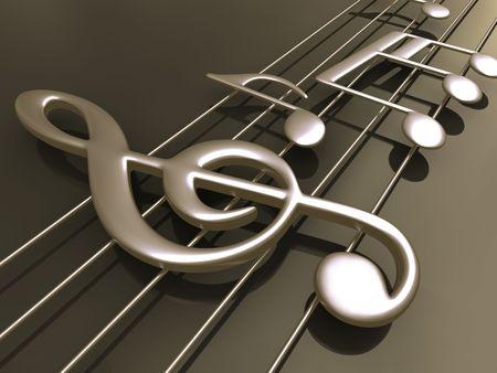 tremante: Note musicali in piedi sul pavimento.  Archivio Fotografico