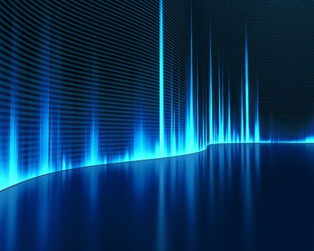 sonido: Gr�fica de un sonido digital. Resumen Antecedentes. Foto de archivo