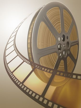 Film Reel. Concept of Industry cinematographic. Stock Photo