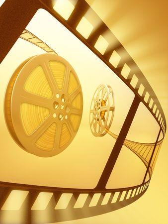 Film Reel Backlight Stock Photo