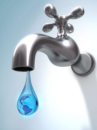 ahorrar agua: Greenpeace. Concepto de residuos de agua en el mundo. La �ltima gota de agua en el mundo.