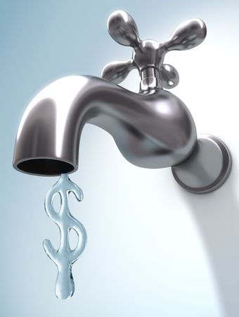 faucet water: The price of water Stock Photo