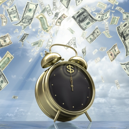 ticker: Business Time. Concept of time is money. Stock Photo