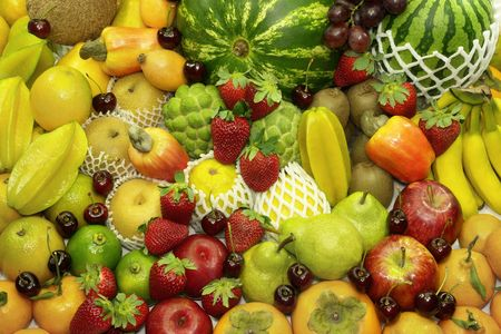 Fruits Background. Several variety of fruits. photo