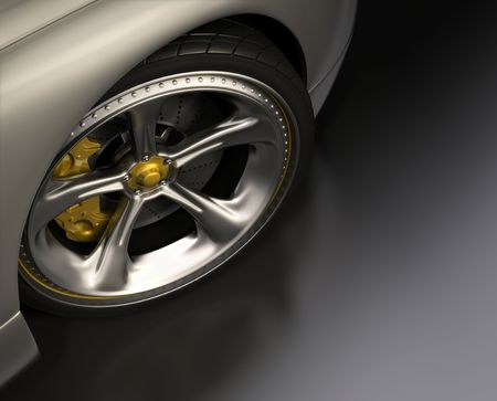 chromed: Chromed wheel with yellow details. Exclusive design, good to use without reference of mark. Your text on the right space.