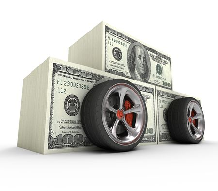 dream car: The cost of your dream car. Concept of expensive.