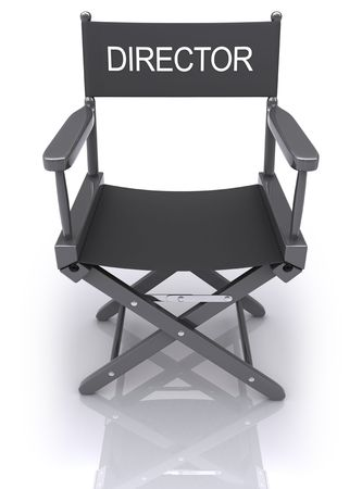 cinematograph: Director�s Chair. It�s possible to change the director word to the another name.