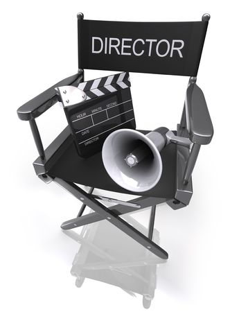 cinematograph: Director�s Chair  Megaphone  Clapboard