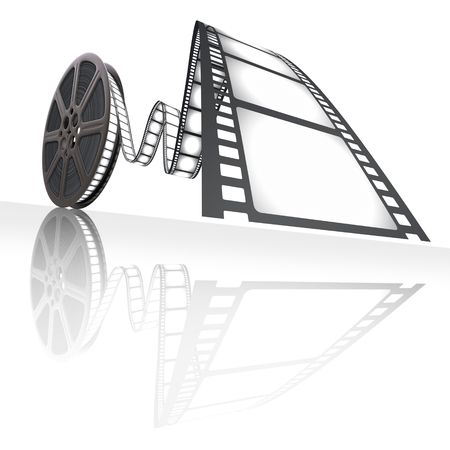 carrete de cine: Reel film. Concepto de industria cinematogr�fica.