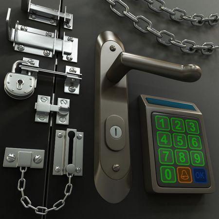 Concept van de veiligheid Stockfoto