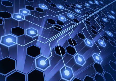 hive: Sistema de conexi�n. Concepto de fondo de la tecnolog�a.