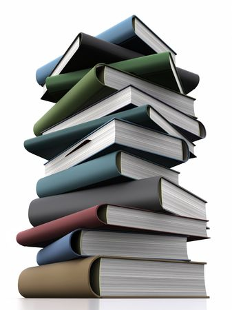 encyclopedic: Stack of books. Knowledge Concept.