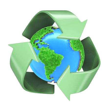 recycling logo: Recycling Planet Earth
