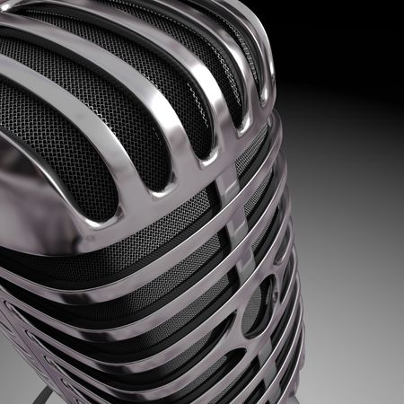 Close of a Classic Microphone Stock Photo - 5303101