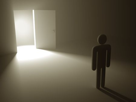 The open door is a concept of the opportunity and hopefulness to reach the success.  Stock Photo - 6650479