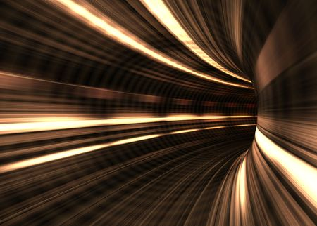 Tunnel Blur. Inside a tunnel in fast moviment. Concept of speed. photo