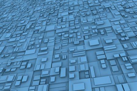 hape: Concetto astratto di sfondo con cubi diferent forma e dimensioni. Archivio Fotografico