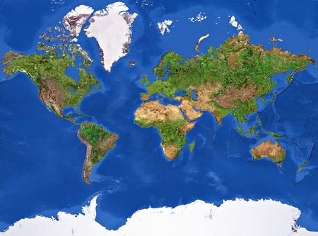 High resolution of the Planet Earth painted texture. Stock Photo - 6992332