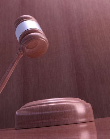 prosecutor: Wooden mallet of judge. Highly detailed texture. Stock Photo