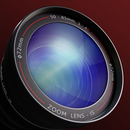 cmos: Close up to the lens. The lens is a concept of photography and surveillance. Stock Photo