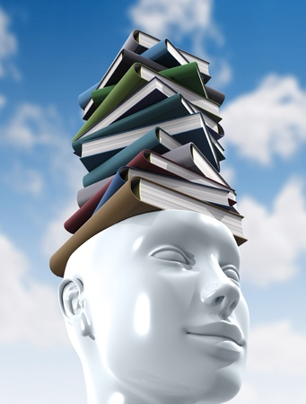 Stack of books. Knowledge Concept. photo