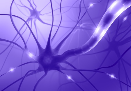 Interconnected neurons transferring information with electrical pulses. Stock Photo - 10756993