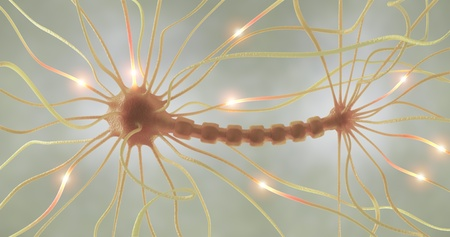 neuro: Interconnected neurons transferring information with electrical pulses.