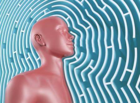 psychics: Half of the body out of the maze and seeing through walls.