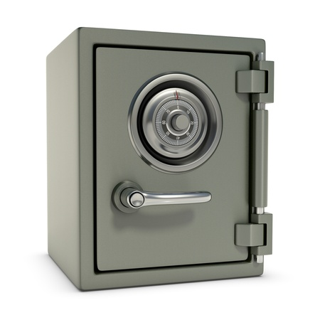 Small safe with password security  Design concept in 3D image  photo