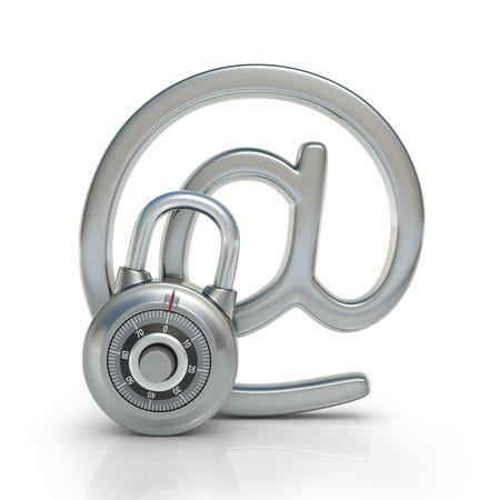 개인 정보 보호: 이메일은 전자 정보의 보호의 자물쇠 개념에 의해 보호